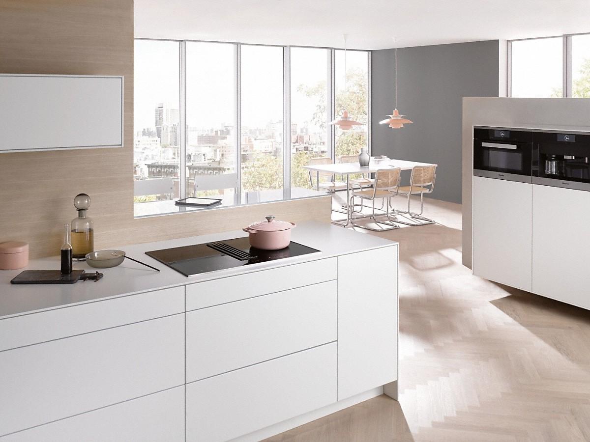 miele kmda 7774 fr plaque de cuisson induction avec hotte int gr e. Black Bedroom Furniture Sets. Home Design Ideas